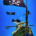 Flying The Skull And Bones by Garry Gay