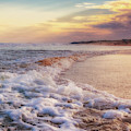 Foamy Beach Waves by Alissa Beth Photography