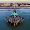 Folly Beach Pier Aerial View by Donnie Whitaker