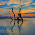 Folly Beach Sunset Reflection by Dan Sproul