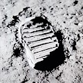 Foot Print On The Moon by Rob Hans