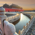 Forbidden City In China During Sunset by Hung Chung Chih