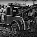 Ford F4 Tow The Truck Business End Black And White by Paul Ward