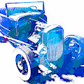 Ford Flathead Roadster Two Blue Pop by David King