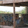 Forgotten Building Covered In Graffiti Salton Sea by Colleen Cornelius