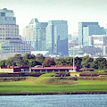 Fort Mchenry With Baltimore Background by Bill Swartwout Photography
