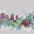 Fort Worth Skyline Artistic Pastel by Bekim M