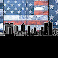 Fort Worth Skyline Flag 3 by Bekim Art