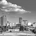 Fort Worth Skyline Monochrome 621919 by Rospotte Photography