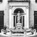 Fountain At Palazzo Ferrajoli In Rome by John Rizzuto