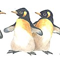Four Penguins by Carolyn Shores Wright