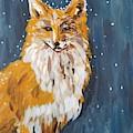 Fox Winter Night by Maria Langgle