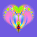 Fractal Abstract Heart New Springtime Love Blossoming by Rose Santuci-Sofranko