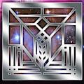 Frank Lloyd Wright Silver Design by Chuck Staley