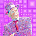 Frank Sinatra Old Blue Eyes In Abstract Squares 20190218 P68 by Wingsdomain Art and Photography