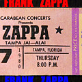 Frank Zappa 1980 Concert Ticket by David Lee Thompson