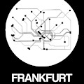 Frankfurt White Subway Map by Naxart Studio