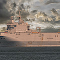 French Ship Tonnerre L9014 by Dale Powell