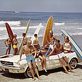 Friends Having Fun On Beach by Tom Kelley Archive