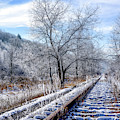 Frosty Morning On The Railroad by Thomas R Fletcher