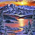 Frozen Sunset by David Lloyd Glover
