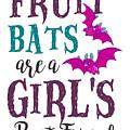 Fruit Bat Conservation Halloween Flying Fox Women Light by Nikita Goel
