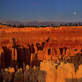 Full Moon Over Silent City Bryce Canyon National Park Utah by Dave Welling