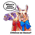 Fun What's Your Name Llama Tee by Jody Wright