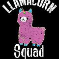 Funny Llamacorn Squad Unicorn Alpaca Lama by TeeQueen2603