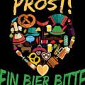 Funny Oktoberfest Prost Ein Bier Bitte Germany by Festivalshirt