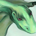 Furry Green Dragon by MM Anderson