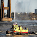G. Shelby Friedrichs Tugboat At New Orleans by Bill Swartwout Photography