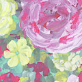 Garden Flowers In The Morning Impressionism  by Irina Sztukowski