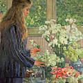 Garden Flowers by Theo van Rysselberghe
