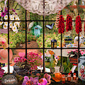 Garden Invitation Evening Light by Debra and Dave Vanderlaan