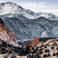 Garden Of The Gods And Pikes Peak Mountain Landscape by Gregory Ballos