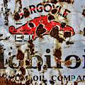 Gargoyle Mobiloil Vacuum Oil Co Rusty Sign by Nick Gray