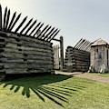 Gate To Main Fort At Fort Ligonier by Carolyn Derstine