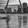 Gateway Arch Sunset - Saint Louis Missouri Infrared Monochrome by Gregory Ballos