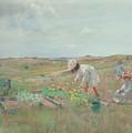 Gathering Flowers, Shinnecock, Long Island, 1897 by William Merritt Chase