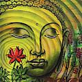 Gautama Buddha Ripple Effect Portrait by Arun Sivaprasad