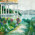 Gazebo By The Lake by Perry Correll