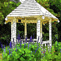 Gazebo In A Beautiful Public Garden Park 3 by Jeelan Clark