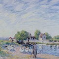 Geese At Saint-mammes by Alfred Sisley