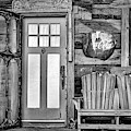 General Store Entrance Bw by Susan Candelario