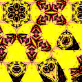 Geometric Yellow Abstract 2 by Artist Dot