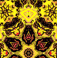 Geometric Yellow Abstract 6 by Artist Dot