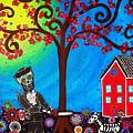 George Washington Dia De Los Muertos by Pristine Cartera Turkus