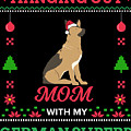 German Shepherd Ugly Christmas Sweater Xmas Gift by TeeQueen2603