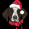 German Shorthair Xmas Hat Dog Lover Christmas by TeeQueen2603